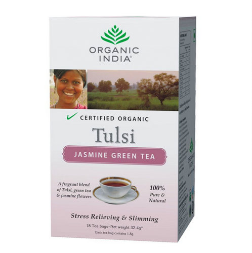 Tulsi Jasmine Green tea (18' infusion bag) small i