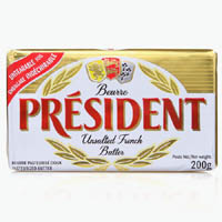 Cheese,President,President Butter - Unsalted (200g)