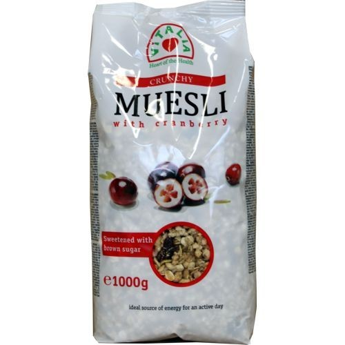 Breakfast,Vitalia,Crunchy Muesli with Cranberry (600g)