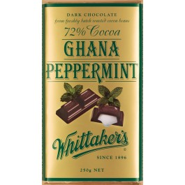 Chocolates,Whittaker's ,72% Cocoa Ghana Peppermint in Dark Chocolate (250g)