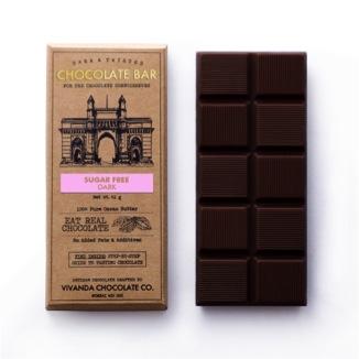 Chocolates,Vivanda Chocolate Co,Sugar-free Dark Chocolate Bar (41g)