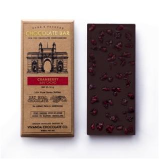 Chocolates,Vivanda Chocolate Co,64% Cranberry Chocolate Bar (41g)