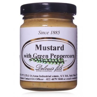 Mustards,Delouis Fils (France),Mustard with Green Peppercorns (100g)