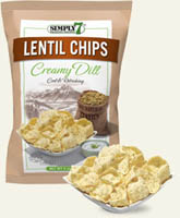 Popcorn & Chips,SIMPLY7,Simply7 Lentil Chips - Creamy Dill (113g)