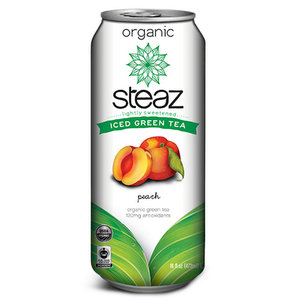 Iced Tea,Steaz,Iced Tea with Peach (473ml)