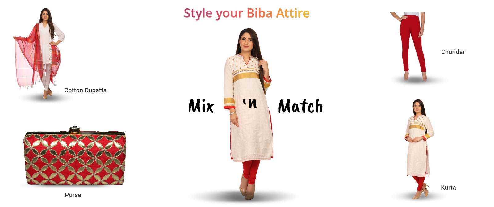 Style your Biba Attire with Mix n Match Style use Coupons Promo Codes Deals and Cashback offers
