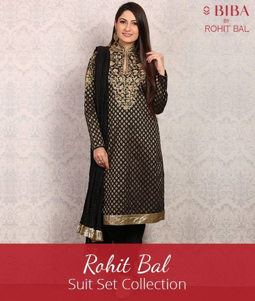 Rohit Bal - Suit Set Collection at Biba COupons Promo Codes Cashback offers Deals