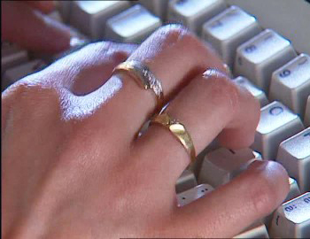 Haritika Ring jewelry wrestler keyboard computer finger