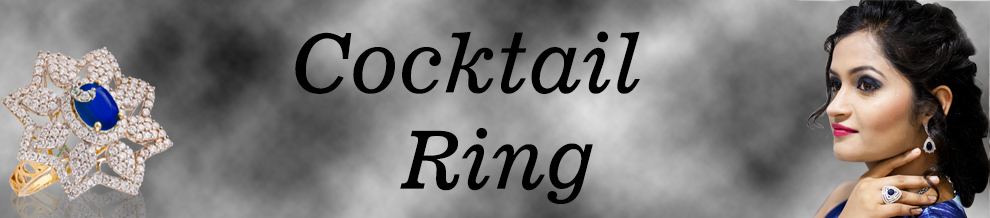 Cocktail Ring With Stone Banner