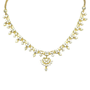 Diamond Necklace, Diamond jewellery, Davanam, 3.780 Ctc Diamond Necklace