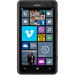 Smart Phones, Mobile Phones, Nokia, Nokia Lumia 625 (Black) , Up to 24 h (2G) / Up to 15 h 10 min (3G) , Up to 552 h , 159 g (5.61 oz) , 133.3 x 72.3 x 9.2 mm, 87.6 cc (5.25 x 2.85 x 0.36 in) , Geo-tagging, touch focus , 5 MP, 2592х1936 pixels, autofocus, LED flash , Yes, VGA , Yes, 1080p@30fps , Wi-Fi 802.11 b/g/n, Wi-Fi hotspot , HSDPA, 42.2 Mbps; HSUPA, 5.76 Mbps; LTE, Cat3, 50 Mbps UL, 100 Mbps DL , Yes, microUSB v2.0 , Yes, v4.0 with A2DP, LE , Class B , Class B ,  , Yes , IPS LCD capacitive touchscreen, 16M colors , 4.7 inches (~199 ppi pixel density) , FM radio , SMS (threaded view), MMS, Email, Push Email, IM , HTML5 ,  , No , Yes, with A-GPS support and GLONASS ,  ,  , Microsoft Windows Phone 8, upgradeable to WP8 Amber , Accelerometer, proximity, compass , Dual-core 1.2 GHz Krait ,  ,  , Yes, 42.2 Mbps HSDPA; 5.76 Mbps HSUPA , Micro-SIM , Yes ,  , microSD, up to 64 GB , 8 GB, 512 MB RAM , Vibration; MP3, WAV ringtones , Yes , Yes