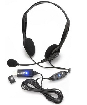 Computer Components, Computers and Peripherals, Andrea, Andrea NC-125VM-USB, Dragon certified USB binaural with Noise Canceling Mike & Volume/Mute control