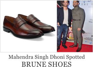 Mahendra Singh Dhoni Spotted with Brune Shoes