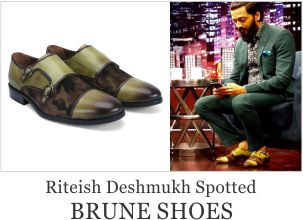 Riteish Deshmukh Spotted with Brune Shoes
