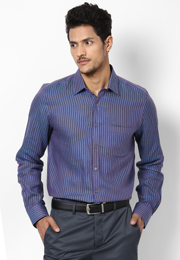 Turtle Purple Striped Linen Shirt 55720 1001