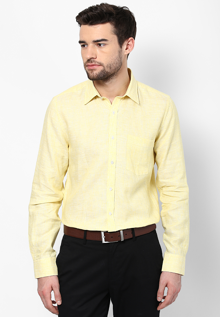 Turtle Striped Linen Yellow Shirt 55727 1001
