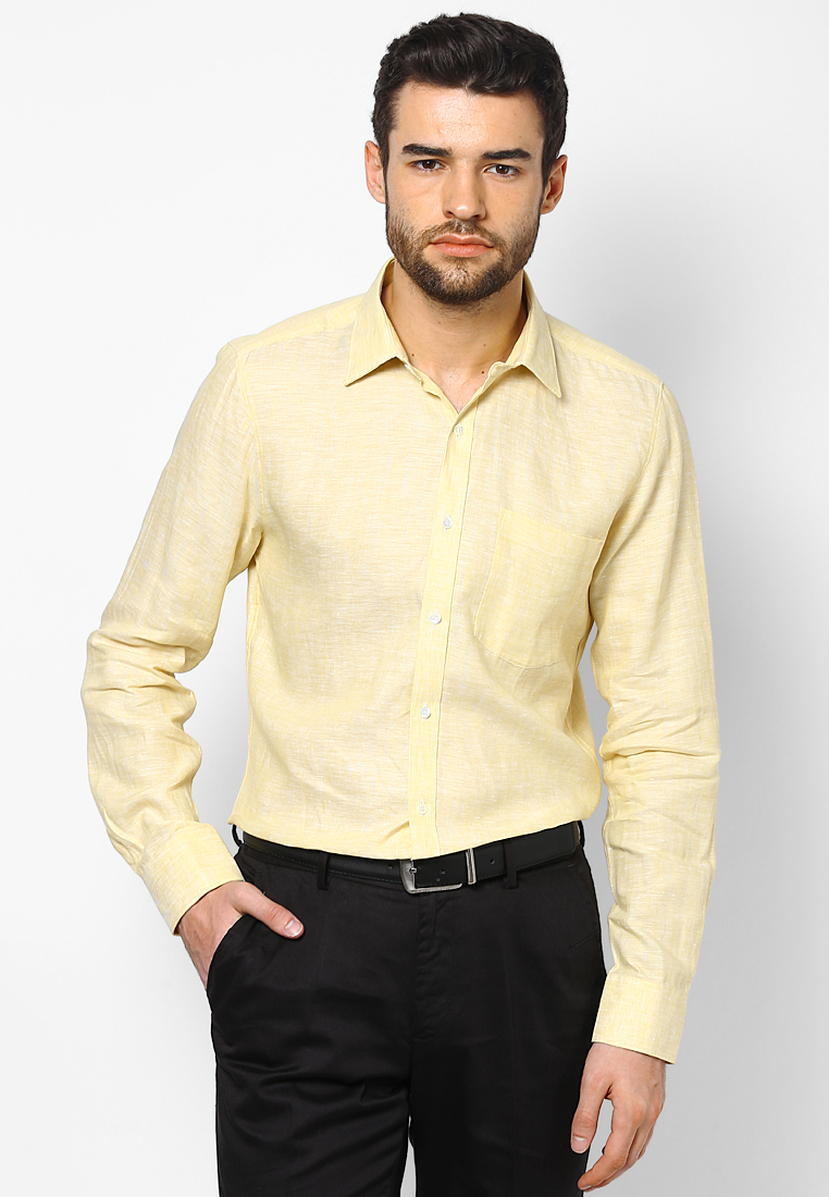 Turtle Yellow Linen Shirt 55730 1001