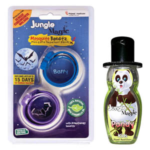 Mosquito Repellent, Personal Safety, All Products, Jungle Magic, Jungle Magic Mosquito Banditz Batty + Free Sanitizer , Yes , 15 Days each band , Certification by Government Certified External Laboratory  , Junglee Magic , JmBatty , Citronella oil