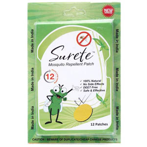 Mosquito Repellent, Personal Safety, All Products, SURETE, Surete - Mosquito Repellent 12 Patches , Surete , Citronell oil