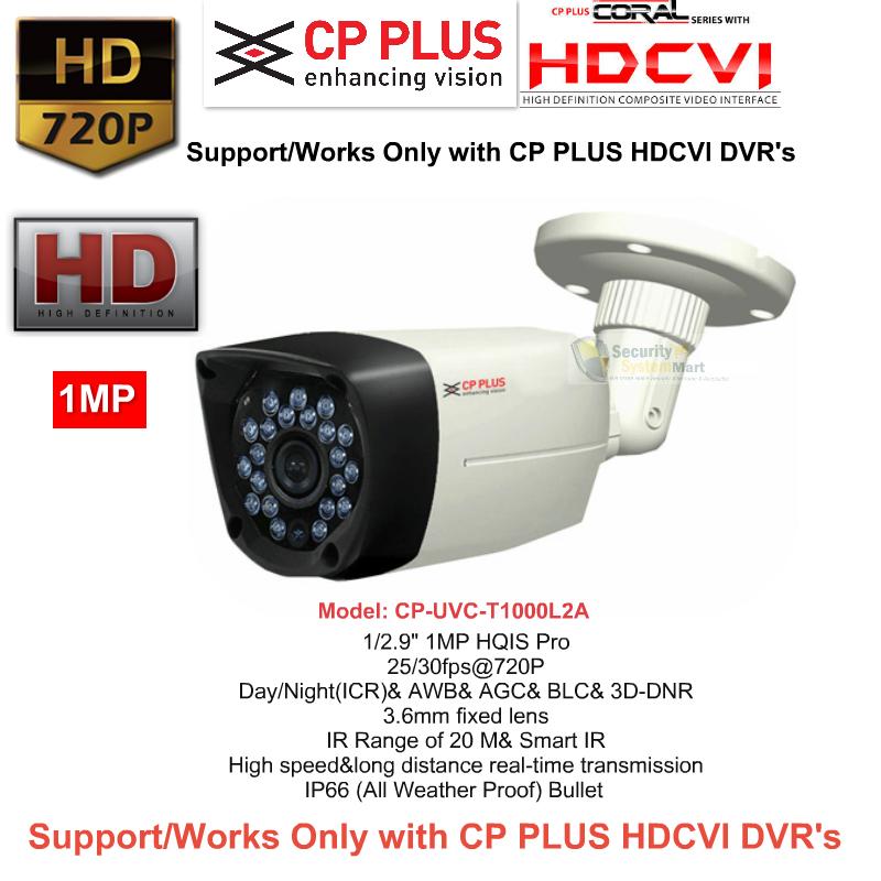 IR Night Vision Cameras,CP PLUS,CP PLUS HD CCTV Camera Bullet CP-UVC-T1000L2A (1MP)