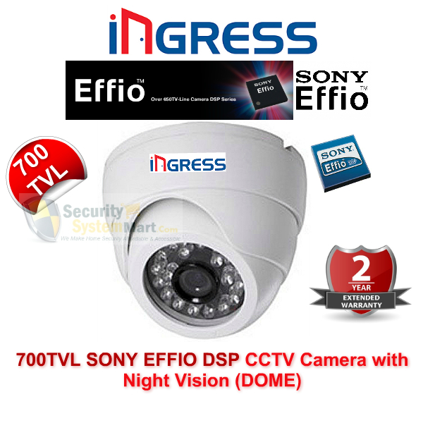 IR Night Vision Cameras,Ingress,Ingress 700TVL CCTV Camera with Night Vision (SONY EFFIO DSP) DOME