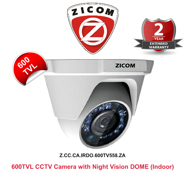 IR Night Vision Cameras,Zicom,ZICOM CCTV Camera (600TVL) with Night Vision (DOME)