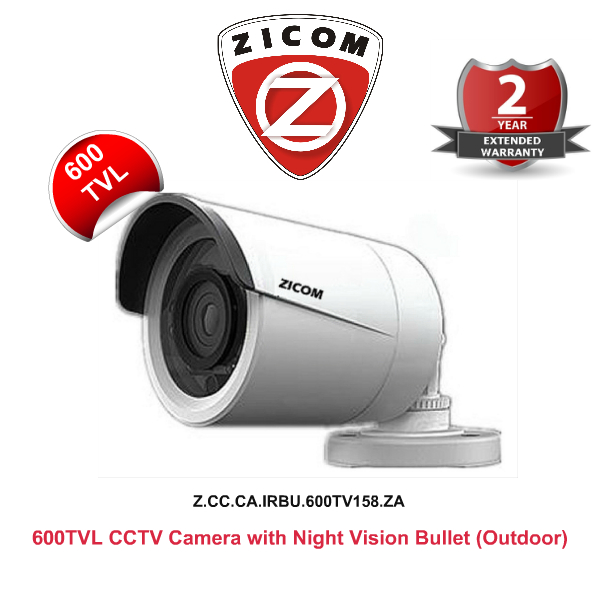IR Night Vision Cameras,Zicom,ZICOM CCTV Camera (600TVL) with Night Vision (Weather Proof) Bullet
