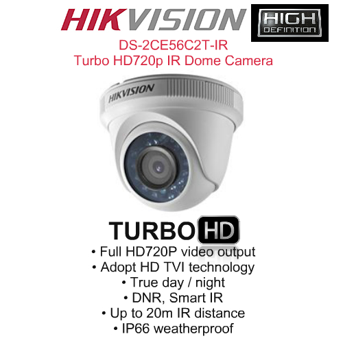 IR Night Vision Cameras,Hikvision,HIKVISION DS-2CE56C2T-IR Turbo HD720p IR Dome Camera