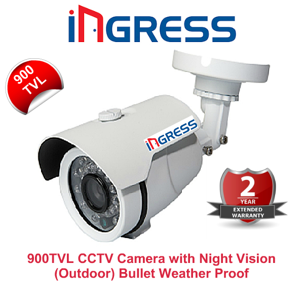 IR Night Vision Cameras,Ingress,Ingress 900TVL CCTV Camera with Night Vision (Outdoor Bullet)