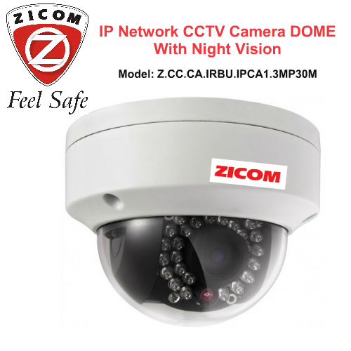 IP Cameras,Zicom,ZICOM IP CCTV Camera with Night Vision (DOME)