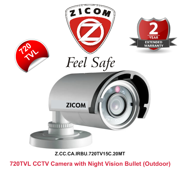 IR Night Vision Cameras,Zicom,ZICOM CCTV Camera (720TVL) PICADIS with Night Vision (Bullet)