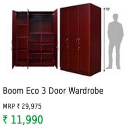 Nitraa Boom Eco 3 Door Wardrobe