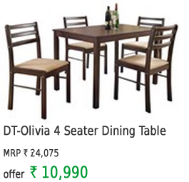 DT-Olivia 4 Seater Dining Table With Chairs