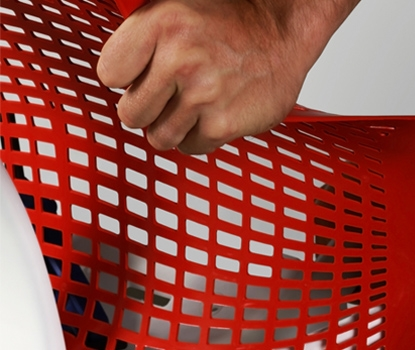 Red Sayl Chair Suspension Back Material