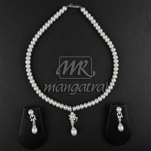 Pearl Locket Sets, Pearls Jewellery, Mangatrai, Pearls Locket Set
