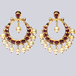 Kundan Earrings,Mangatrai,15.960gms Kundan Earrings in 22kt. Gold
