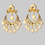 Kundan Earrings,Mangatrai,19.330gms Kundan Earrings in 22kt. Gold