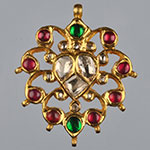 Kundan Lockets,Mangatrai,11.340gms Kundan Locket in 22kt. Gold