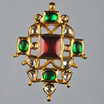 Kundan Lockets,Mangatrai,9.760gms Kundan Locket in 22kt. Gold