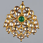 Kundan Lockets,Mangatrai,17.730gms Kundan Locket in 22kt. Gold