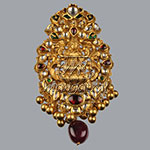 Kundan Lockets,Mangatrai,46.980gms Kundan Locket in 22kt. Gold