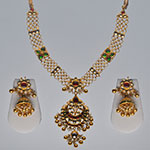 Kundan Necklace Sets,Mangatrai,106.980gms Kundan Necklace Set in 22kt. Gold