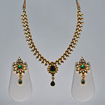 Kundan Necklace Sets,Mangatrai,75.730gms Kundan Necklace Set in 22kt. Gold