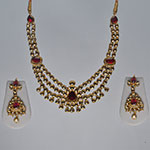 Kundan Necklace Sets,Mangatrai,105.360gms Kundan Necklace Set in 22kt. Gold