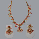 Pearl Necklace Sets,Mangatrai,28.980gms Pearls Necklace Set in 22kt. Gold