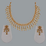 Polki Necklace Sets,Mangatrai,7.79ct. Polki Necklace Set in 22kt. Gold