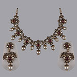 Polki Necklace Sets,Mangatrai,9.75 - 2.22ct. Polki Necklace Set in 18kt. Gold
