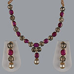 Polki Necklace Sets,Mangatrai,6.88ct.- 0.20ct. Polki Necklace Set in 18kt. Gold