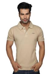 Clifton Men's Plain Polo T-Shirt Saffari
