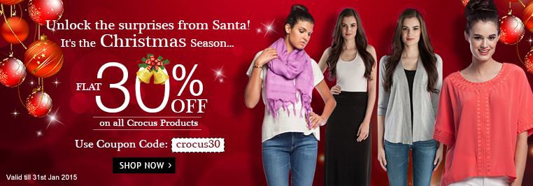 Flat 30% off on all crocus Products